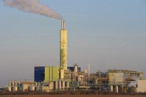 Waste incinerating plant, Biebesheim, Hesse, Germany