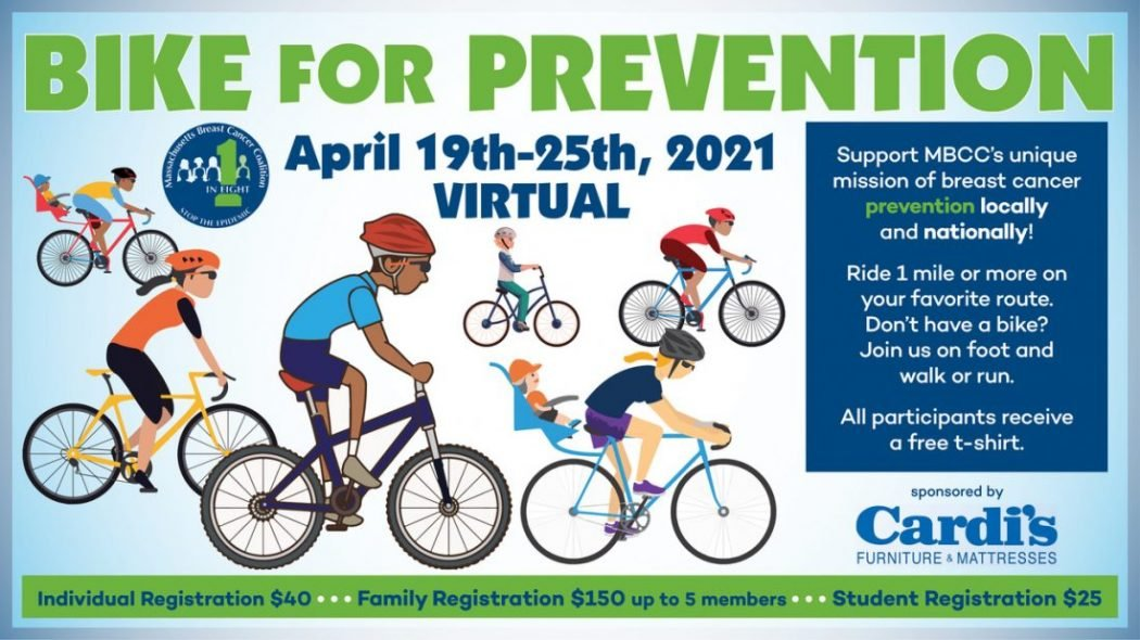 Poster to promote the 2021 Bike for Prevention event