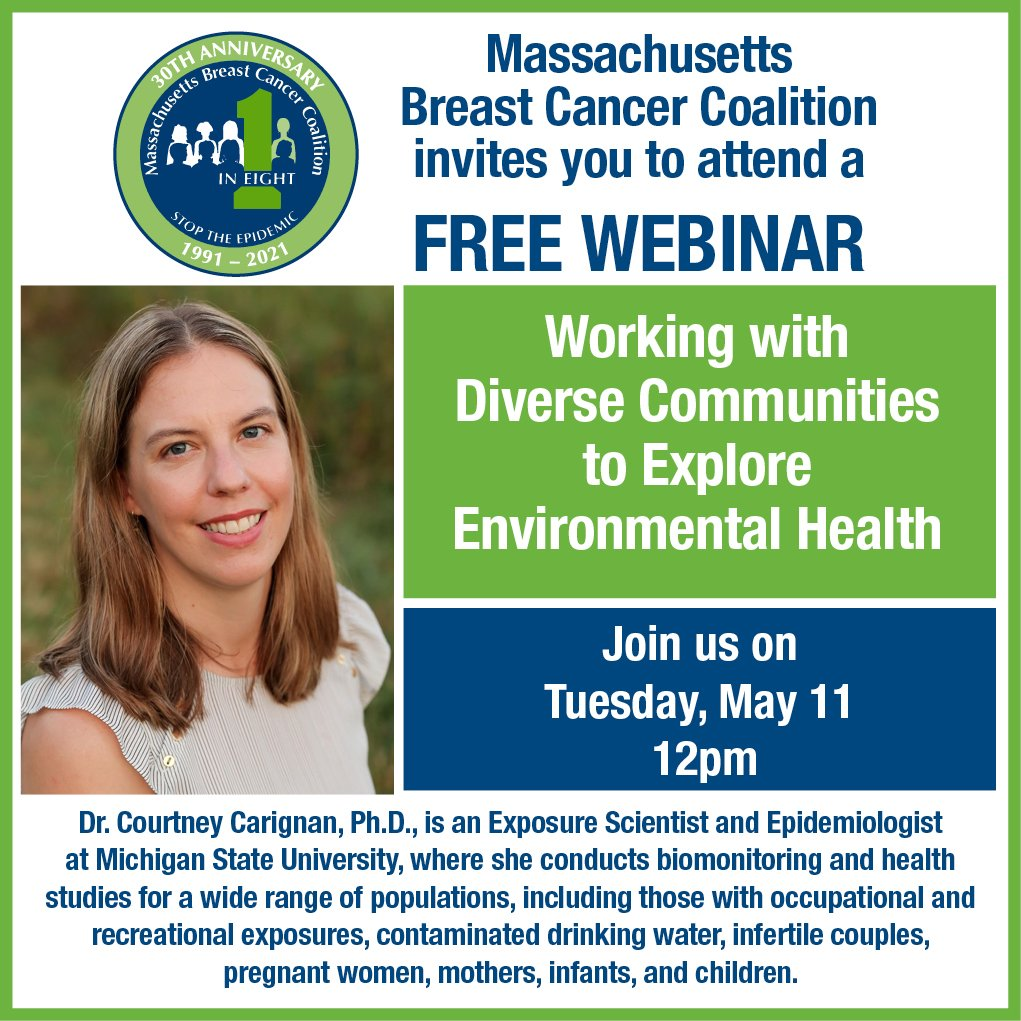 """May 11 Webinar: """"Working with Diverse Communities to Explore Environmental Health"""""""