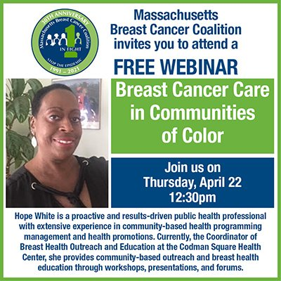 Webinar about Breast Cancer Care in Communities of Color.