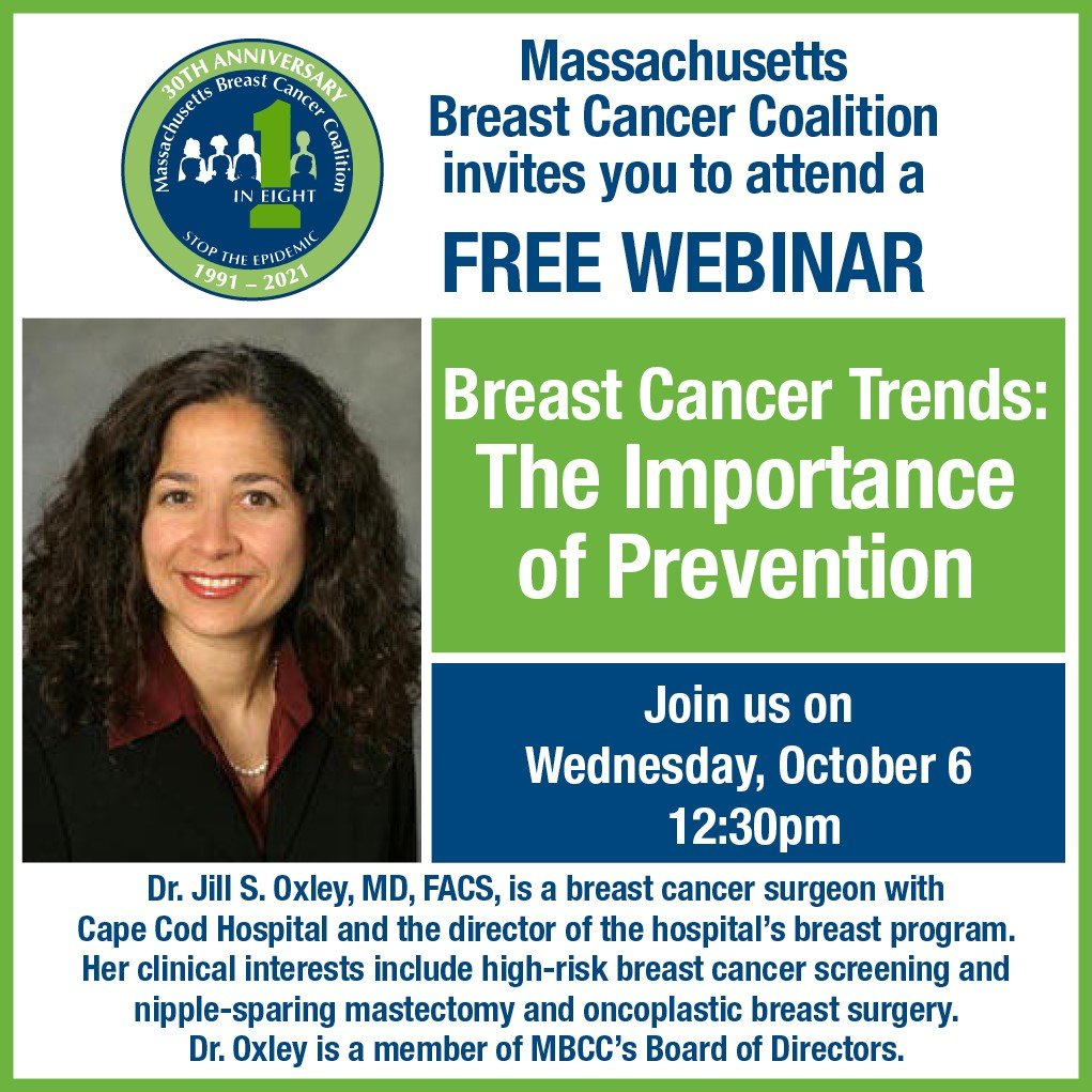 October 6th Webinar - Breast Cancer Trends: The Importance of Prevention