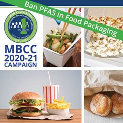 Poster for our campaign to Ban PFAS in Food Packaging